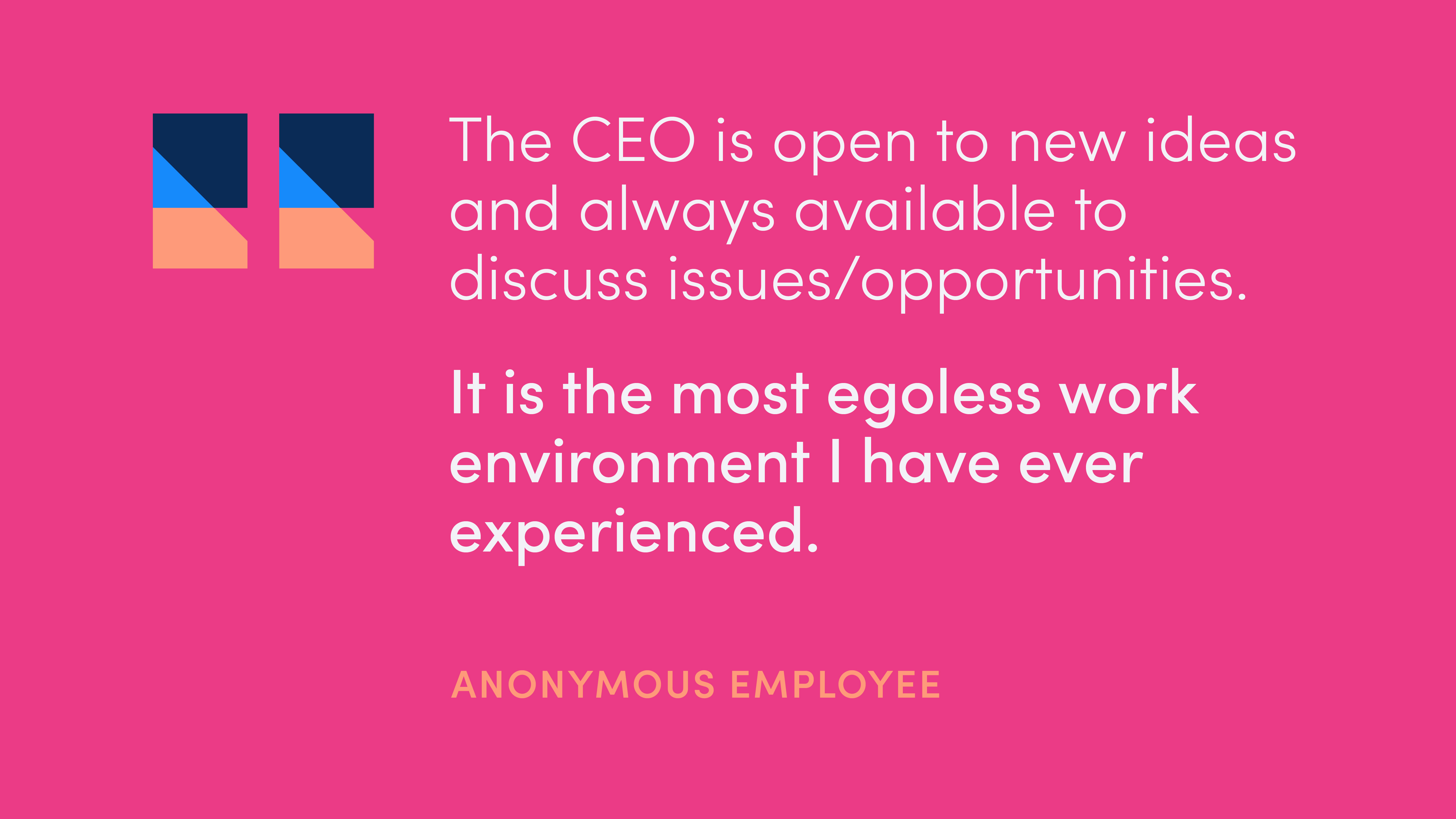 Quote from anonymous employee: