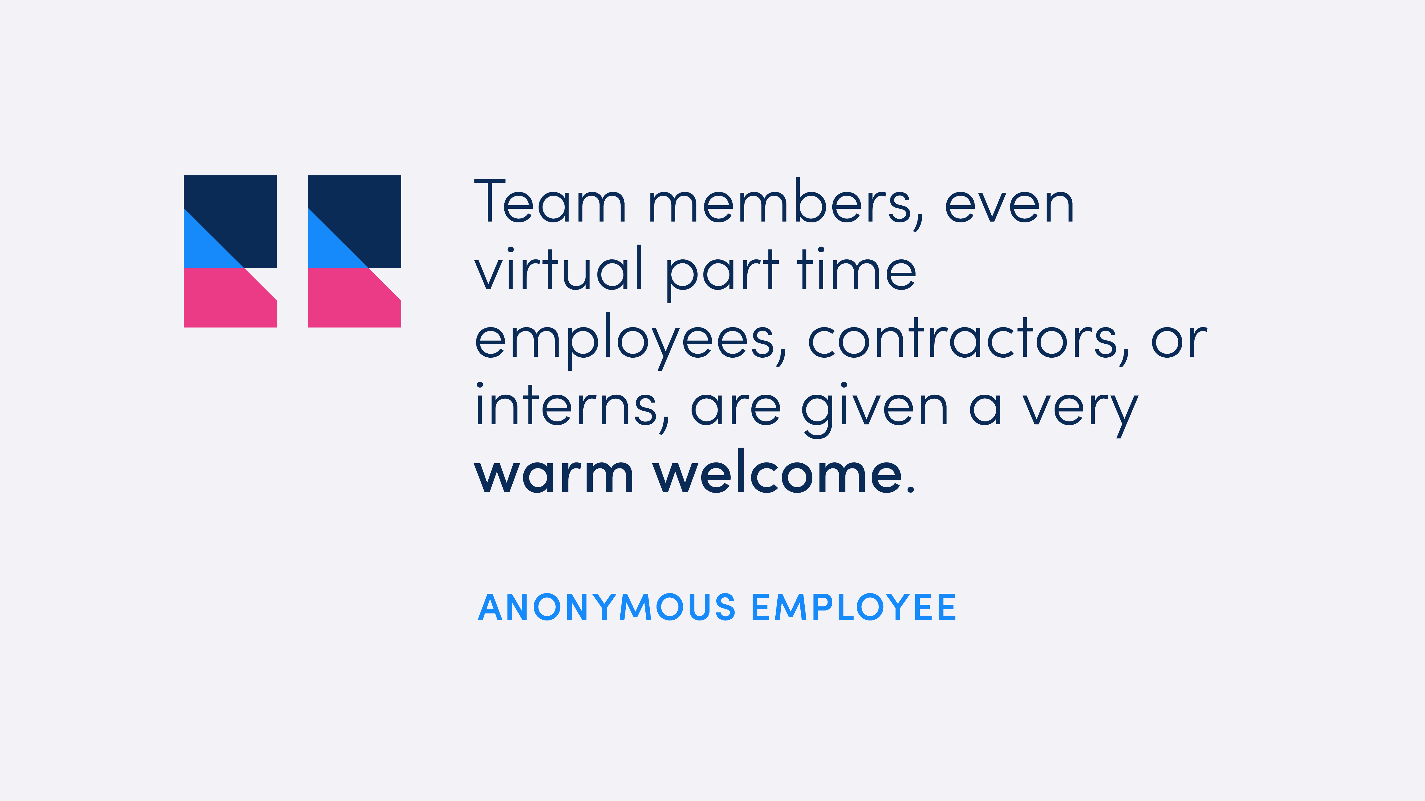 Anonymous team quote: